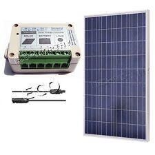 Solar Panel 100 Watt Bundle Kit Poly 100W Watts Off Grid 12Volt RV Boat Home Car