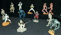 "Star Wars Orange Clone Trooper Mini Figurine Lot of 12  2"" 2005 cake toppers"