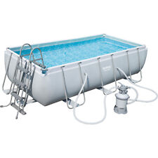 Bestway Power Steel Rectangular Frame Pool Set Schwimmbad