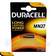 1 x Duracell Alkaline MN27 12V battery A27 GP27A E27A EL812 EXP:2020