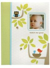 "Carter's Green Woodland Animals Baby Memory Book- ""watch Me Grow� New"