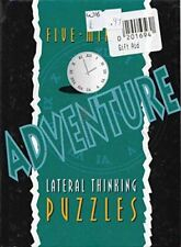 Lagoon Books, Five-minute Adventure Lateral Thinking Puzzles, Like New, Hardcove