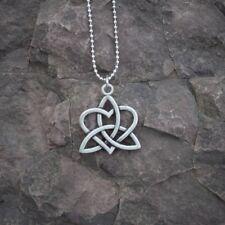 Triquetra Heart Celtic Knot Viking Trinity Pendant Necklace Asatru Norse