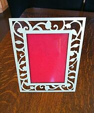 """Picture Frame Photo Size 3.1/2'' x 5"""" Gold Metal Floral Freestanding Rectangle"""