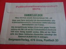 Original-Tüte Bergmann WM 70, geschlossen mit Bildern