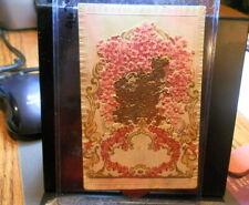 #9674,Rare Foldout Die Cut Valentine Postcard Circa 1910