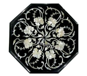 15 Inches Marble Coffee Table Top Marquetry Art Corner Table for Home Furniture