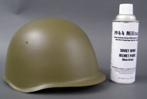Soviet WWII Moss Green Helmet Spray Paint- Helmets NOT FOR SALE!