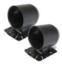 2 x Universal Black Cup Gauge Holder 52mm Dash Mount