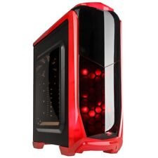 Kolink Aviateur ATX Midi Tower DEL Rouge USB 3.0 PC De Bureau Gaming Case Rouge