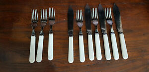 Vintage Part Set Stainless Steel Fish Cutlery - See Photos for Details