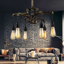 Vintage Industrial Pendant Ceiling Chandelier Light  Retro Metal Water Pipe Lamp