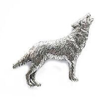 Howling Wolf Pewter Pin Badge/Brooch Wildlife Animal Collar Lapel Hat Tie