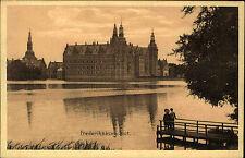 Frederiksborg Slot Dänemark alte Ansichtskarte ~1910 Blick über den See Brücke