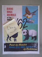 BACHMANN - Birds, Dogs, Animals of the World - 1962 Model Kit Catalog COPY +