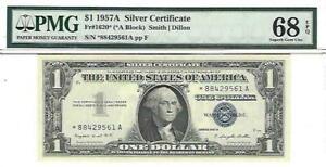 1957A*  $1 Silver Certificate PMG 68 EPQ (*A block)  FR-1620 STAR Note