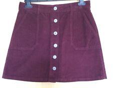 Miss Selfrdige Skirt 12 Needlecord Cord Casual Winter A Line Button Through BNWT
