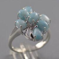 EDEL Larimar Ring 925er Sterling Silber Gr. 57 NEU