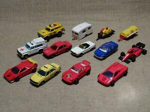 Lot 13 voitures et remorques miniatures 1/64 eme et autre  Majorette
