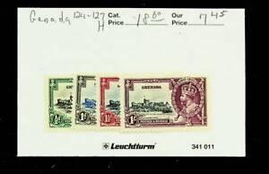 GRENADA 1935 KG V SILVER JUBILEE 4v MH STAMPS #124-27 CV $18.60