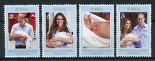 St Helena 2013 MNH Prince George Royal Baby William & Kate 4v Set Royalty Stamps