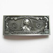 Men Buckle 1000 US Dollar Bill Belt Buckle Gurtelschnalle Boucle de ceinture