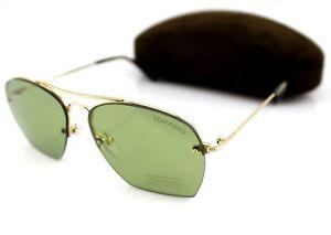 NEW Genuine TOM FORD WHELAN Gold Green Gradient Sunglasses TF 505 FT 0505 28N