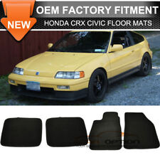 Fits 88-91 Honda CRX Civic Floor Mats Carpet Front & Rear Nylon 4PC
