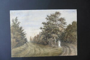 DUTCH SCHOOL 1891 - A WOODED RURAL LANDSCAPE - WATERCOLOR SIGNED STORM