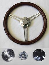 "70-77  Mustang Grant Steering Wheel 14 3/4"" Mahogany and Billet Ford Center Cap"