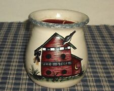 New listing 1999 Home & Garden Party Stoneware Bird House Candle Crock with Candle Usa