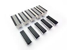 5 pcs LM3914 chips + 5 pcs LED 10-SEGMENT Bargraph Array Display Choose Color