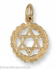 Star of David Pendant Yellow Gold Star of David Necklace