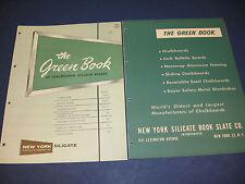 New York Silicate Book Slate Co. Asbestos Catalog 2 Lot U S Navy Schools