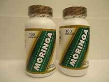 2 X 100 = 200 CAPSULES DRIED MORINGA Oleifera400 mg 100% natural Powder Malungga