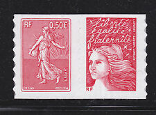 FRANCE AUTOADHESIF N°   36 ( 3619 )** MNH, Paire H1, Semeuse de Roty, TB