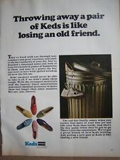 1967 Keds Tennis Shoes Sneakers in Trash Can Ad