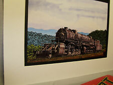 Virginian  steam Mallet Blue Ridge mountains is backdrop   Railroad Archives TI
