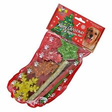 Christmas Dog Puppy Treat Stocking Munchy Raw Hide Chews Present Xmas Ornament