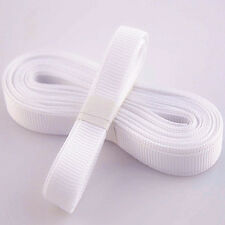 "5yds 3/8"" (10 mm) White Solid Christmas Grosgrain Ribbon Hair Bows Ribbion"