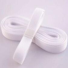 "5yds 3/8"" (10 mm) White Solid Christmas Grosgrain Ribbon Hair Bows Ribbion#"