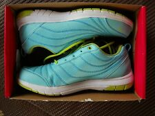 "RYKA ""CONTINUUM"" AQUA LIME LACE-UP WALKING SHOES WITH CSS TECHNOLOGY ~ 8W"
