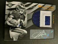 Justice Hill 2019 Panini Black RPA  Patch Auto RC # 16/25 Baltimore Ravens