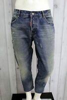 DSQUARED2 Jeans Uomo Taglia 54 Pantalone Regular Italia Cotone Pants Men Man