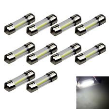 10x White Car 31MM Festoon Light Map Blub Glass Lens 1 Emitters LED 30922 Z21372