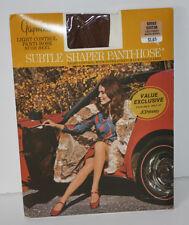 New NIP Vintage Gaymode Pantyhose Subtle Shaper Light Control Nude Heel Suntan