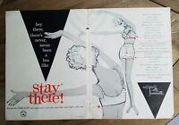 1958 Hollywood Vette Vassarette women's girdle luxury lace bra ad