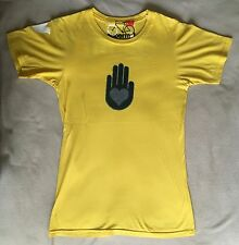 FREE CITY small tee shirt t-shirt Supermat golden yellow