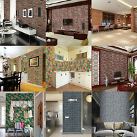 3D Wall Sticker Bedroom Mural Roll Self-adesive Brick Wall Background Textured