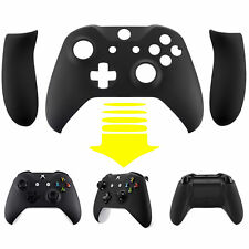 Soft Touch Black Faceplate Top Shell With Side Rails For Xbox One S X Controller